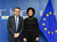 Visit of Nuria Sebastian Galles, Vice-President of the ERC Scientific Council, to the EC