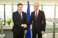 Visit of Arseniy Yatsenyuk, President of the Ukrainian 'People's Front' political party, to the EC