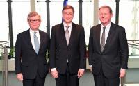 Visite de Jacob Wallenberg, président du comité directeur d'Investor, et Marcus Wallenberg, président du comité directeur de SEB, à la CE