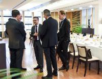 Carlos Moedas, membre de la CE participe à un petit-déjeuner sur le sujet Horizon 2020