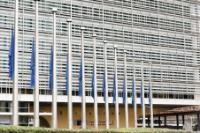 European flags fly at half-mast in solidarity with the victims of the forest fires in Portugal and Spain