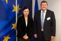 Visit of Peter Scherrer, Deputy General Secretary of the European Trade Union Confederation (ETUC), to the EC