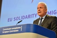 Press conference by Dimitris Avramopoulos, Member of the EC, on the progress made in better managing migration under the European Agenda on Migration