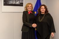 Visite de Helena Dalli, ministre maltaise des Affaires européennes et de l'Egalité, à la CE