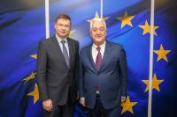 Visite de Laurent Burelle, président de l'Association française des entreprises privées (Afep) , à la CE