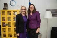 Visit of Margarete Schramböck, Austrian Federal Minister for Digital and Economic Affairs, to the EC