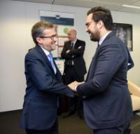 Visite de Mounir Mahjoubi, secrétaire d'État français chargé du Numérique, à la CE 