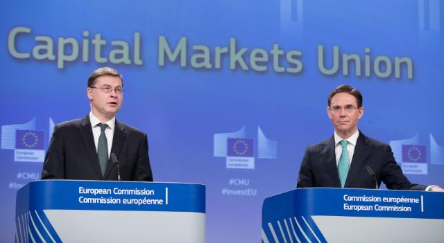 Joint press conference by Valdis Dombrovskis and Jyrki Katainen, Vice-Presidents of the EC, on initiatives from the New Capital Markets Union  to promote Sustainable Finance, FinTech and Crowdfunding