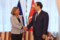 Bilateral meeting between Federica Mogherini, Vice-President of the EC, and Youssef Chahed, Head of Government of Tunisia.