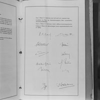 Signing page of the Treaty of Rome
