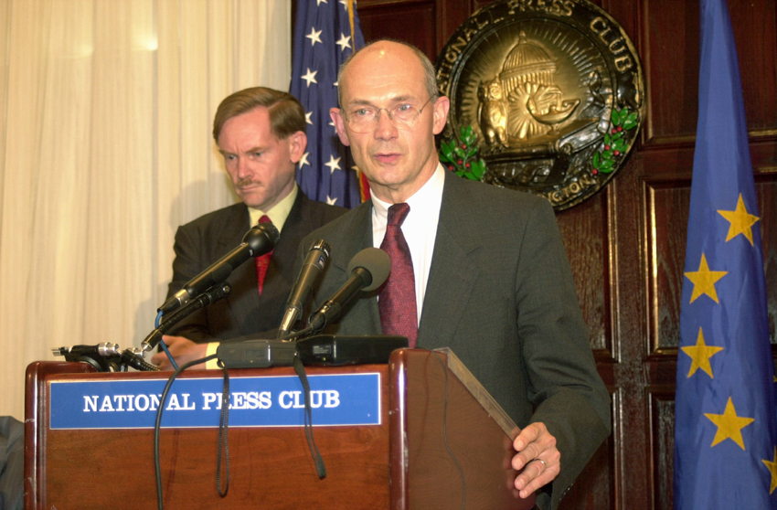 Joint Press Conference with Pascal Lamy, member of the EC, and Robert Zoellick, United States Trade Representative