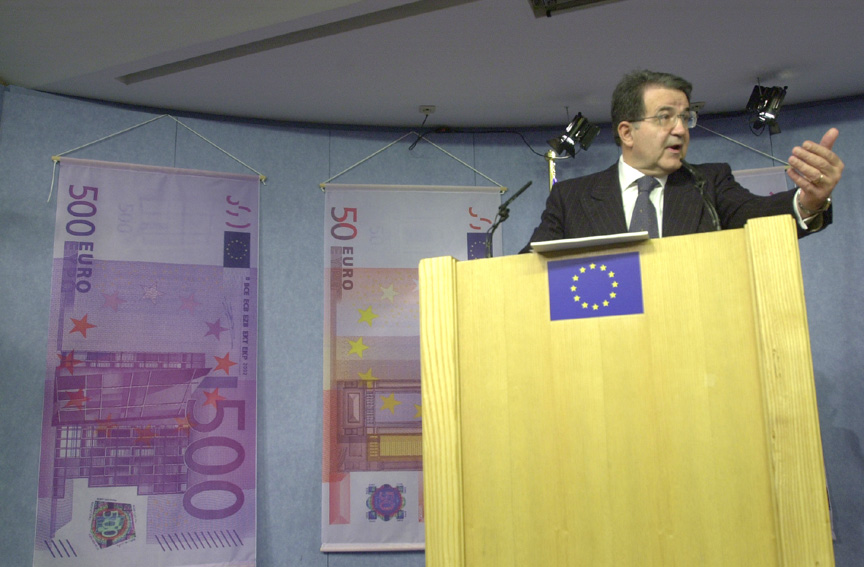 Press Conference with Romano Prodi, President of the EC, on the changeover to the euro