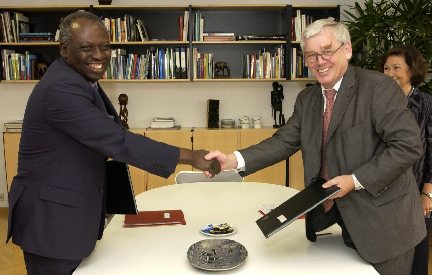 Visit of Jacques Diouf, Director General of the FAO, to the EC