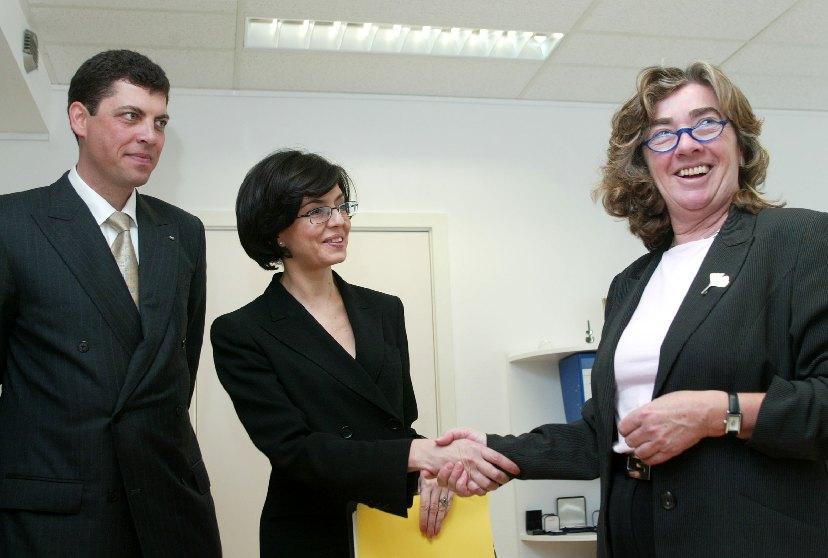 Visite de Milen Veltchev, ministre bulgare des Affaires étrangères et de Meglena Kuneva, ministre bulgare des Affaires européenne, à la CE