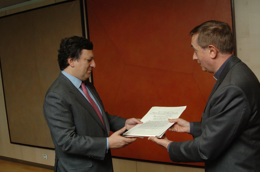 Presentation of the credentials of the Heads of Mission to the EC to José Manuel Barroso, President of the EC