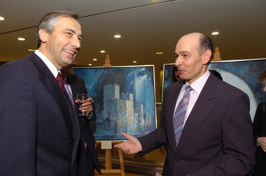 Inauguration by Ján Figel', Member of the EC, of a painting exhibition
