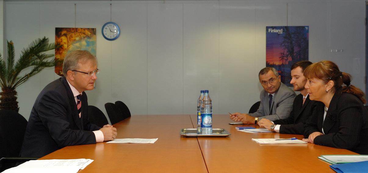 Visite de Monica Luisa Macovei, ministre roumaine de la Justice, à la CE