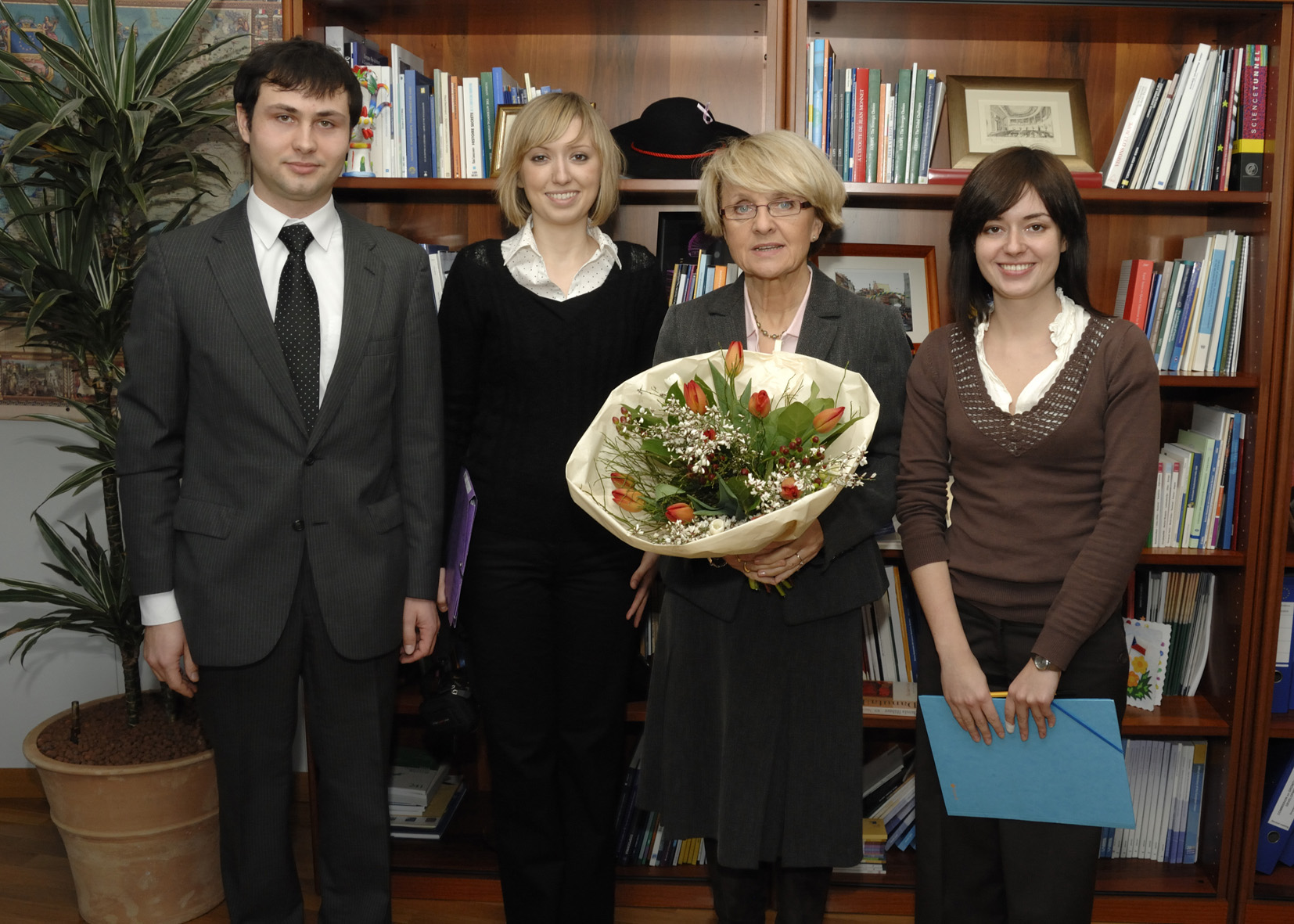 Visit by a group of Polish students from the Robert Schuman University to the EC