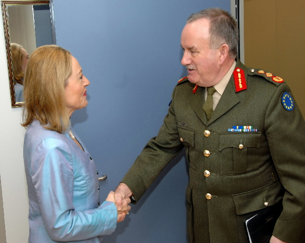 Visit by Patrick Nash, EUFOR Chad/RCA Operation Commander