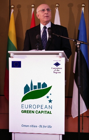 Participation of Stavros Dimas, member of the EC, in the launch of the European Green Capital Award