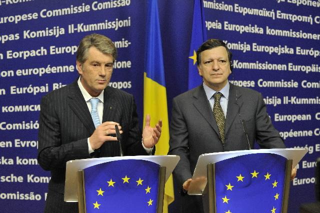 Visite de Viktor Iouchtchenko, président d'Ukraine, à la CE