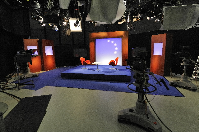Views of the TV and radio studios of the EC at the Berlaymont