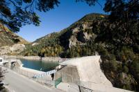 The dam of Saint-Dalmas, an example of hydropower