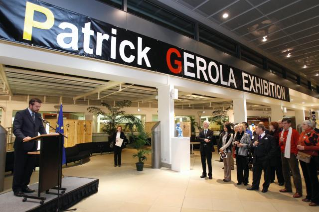 Inauguration of the exhibition of Belgian artist Patrick Gerola