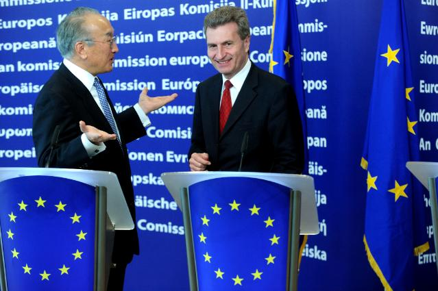 Joint press conference by Nobuo Tanaka, Executive Director of the IEA, and Günther Oettinger, Member of the EC