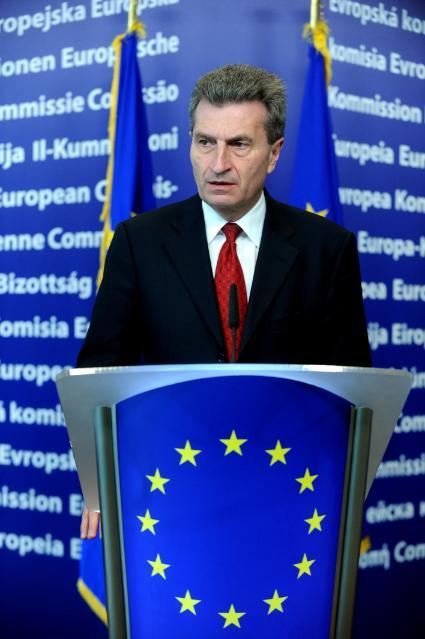 Conférence de presse conjointe de Nobuo Tanaka, directeur général de l'AIE, et Günther Oettinger, membre de la CE