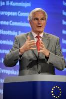 Press conference by Michel Barnier, Member of the EC, on setting up bank resolution funds