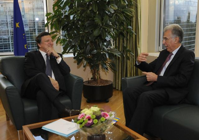 Meeting between José Manuel Barroso, President of the EC, and P. Nikiforos Diamandouros, European Ombudsman