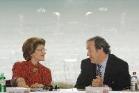 Meeting between Michel Platini, President of UEFA, and Androulla Vassiliou, Member of the EC