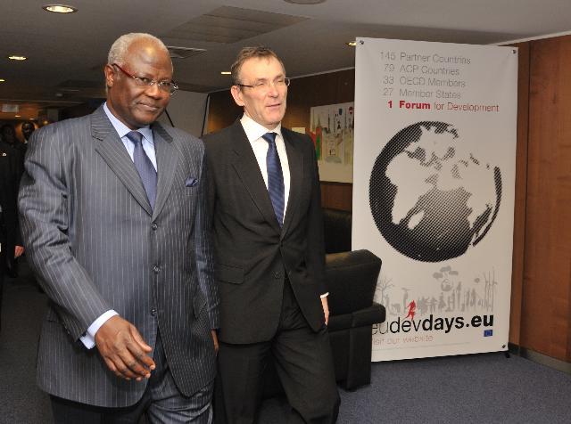 Visite d'Ernest Bai Koroma, président de la Sierra Leone, à la CE