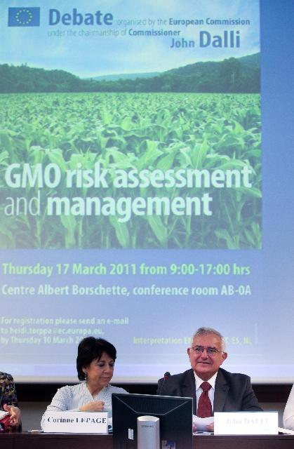 Participation of John Dalli, Member of the EC, at the debate on GMO risk assessment and management