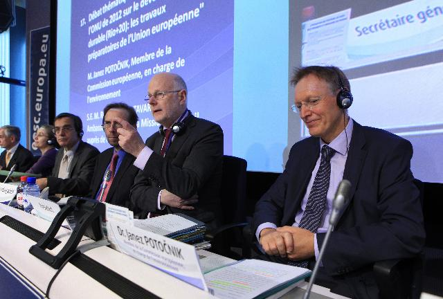 Participation of Janez Potočnik, Member of the EC, at the 2012 UN conference on sustainable development, organised by the EESC