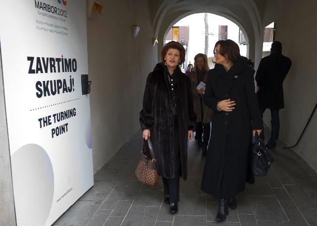 Visit by Androulla Vassiliou, Member of the EC, to Maribor