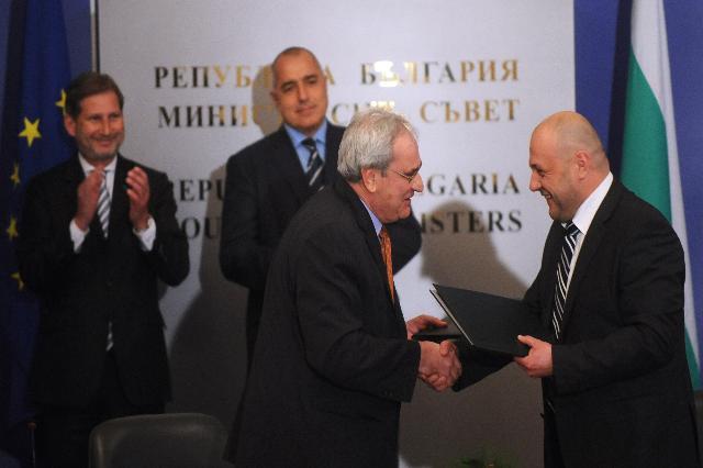 Participation de Johannes Hahn et Kristalina Georgieva, membres de la CE, à la cérémonie d'investiture de Rosen Plevneliev, président de la Bulgarie, à Sofia