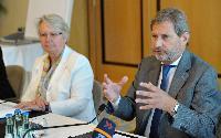Visite de Johannes Hahn, membre de la CE, en Allemagne