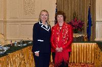 Visite de Catherine Ashton, vice-présidente de la CE, au Cambodge