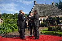 Visite de Johannes Hahn, membre de la CE, aux Pays-Bas