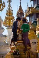 The Burmese are used to visiting the Pagoda to pray and make their offerings