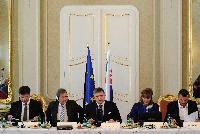 Visite de Johannes Hahn, membre de la CE, en Slovaquie