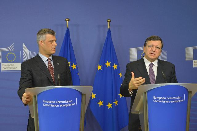 Visite d'Hashim Thaçi, Premier ministre kosovar, à la CE