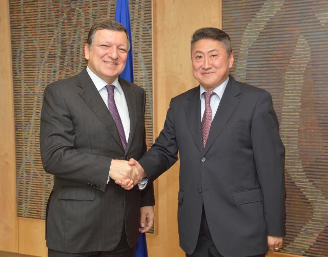 Presentation of the credentials of the Heads of Mission to José Manuel Barroso, President of the EC