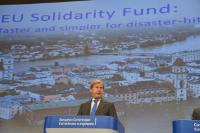 Press conference by Johannes Hahn, Member of the EC, on making the EU Solidarity Fund faster and simpler for support after disasters