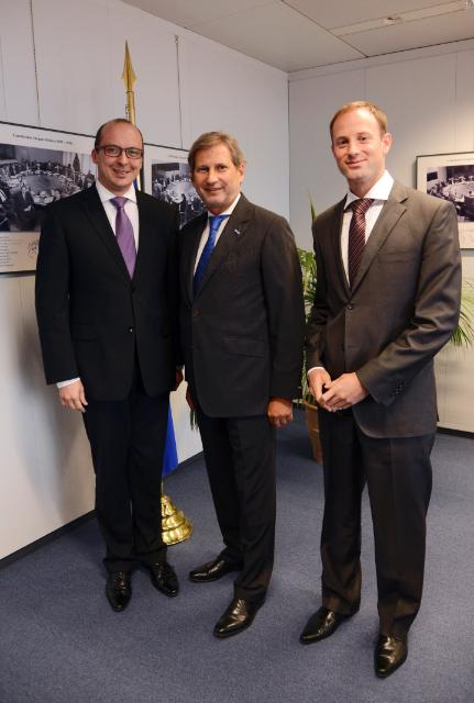 Visit of František Lukl, Czech Minister for Local Development, to the EC