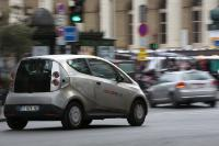 The electric vehicle service in Paris