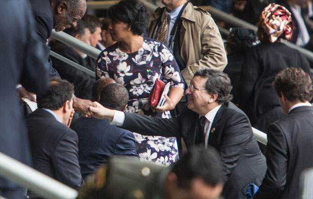 Participation of José Manuel Barroso, President of the EC, in the State Memorial Service for Nelson Mandela