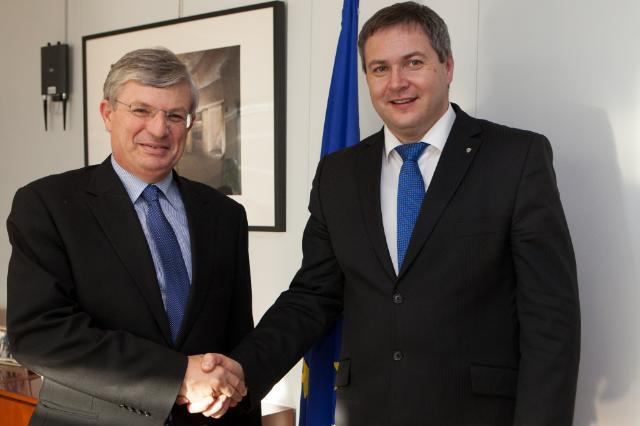 Visite de Dejan Židan, vice-Premier ministre slovène; ministre de l'Agriculture et de l'Environnement, à la CE